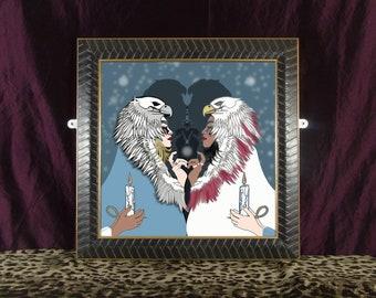 King of Birds - large framed print