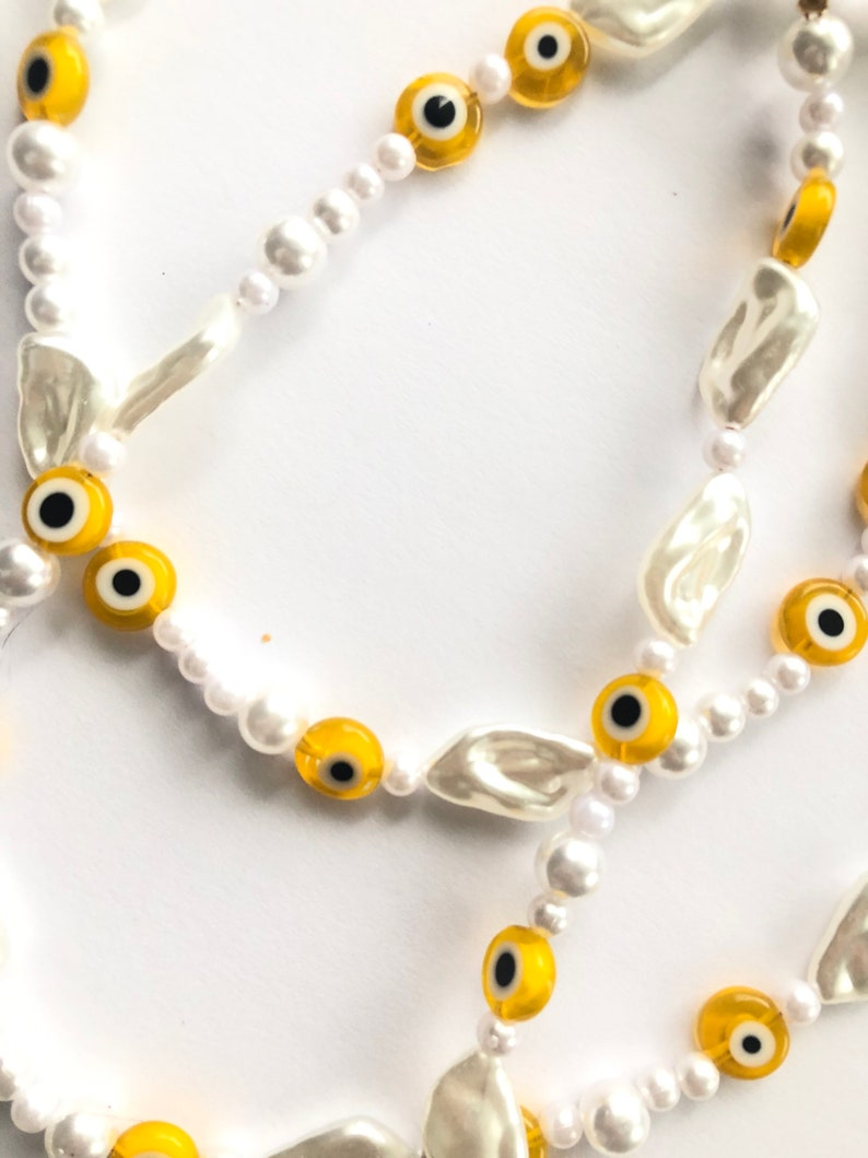 18 inches Yellow Evil Eye Necklace