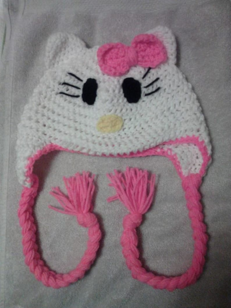 Crochet Hello Kitty Hat Etsy