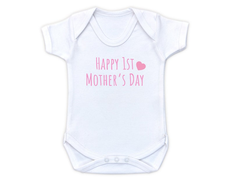 Baby Girl Happy 1st Mother/'s Day Gift First Mother/'s Day Baby Grow and Card First Mother/'s Day Baby Vest