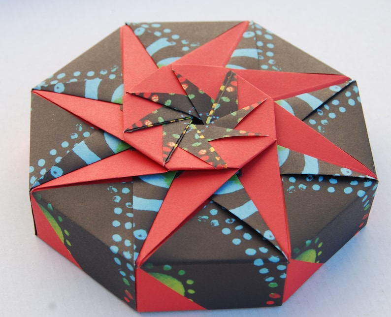 Origami Hexagonal Gift Box Tutorial - 1 Sheet DIY - Paper Kawaii ... | 644x794