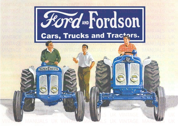 Fordson Major Tractor A3 - 3 for 2 offer Poster