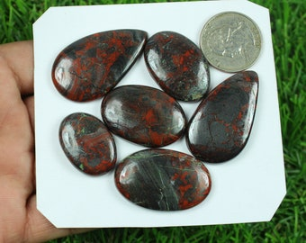 Natural Conglomerate Jasper Cabochon Loose Gemstone 5 Pcs 207 Crt Wholesale Conglomerate Jasper Lot A One Gemstone For Necklace #SG-4023