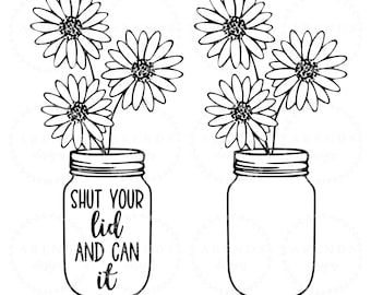 photograph regarding Printable Mason Jar Template named Printable mason jar Etsy