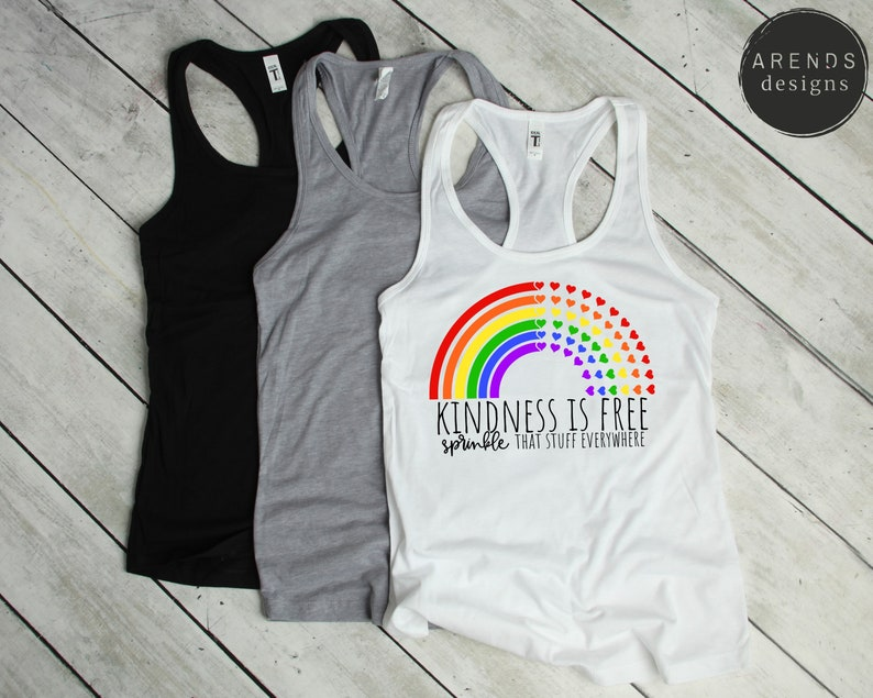 Heart Rainbow Kindness Is Free Sprinkle That Stuff Everywhere SVG Kindness Rainbow Cut Friendly Instant Download Cricut Silhouette Cameo