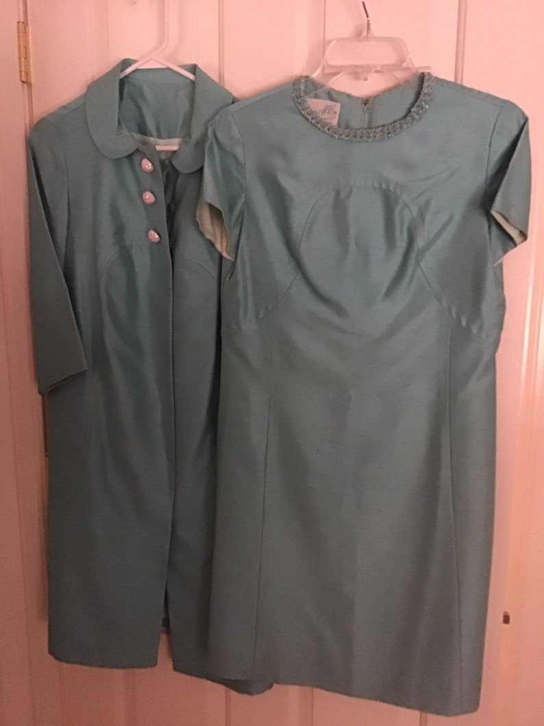 vintage Marcy Allen dress coat ensemble mother of the bride image 1