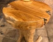 Teak Stool Round Teak Table Natural Teak Bar Stool Teak Root Table Teak Plant Stand