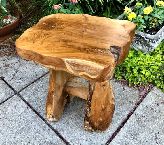 Teak Wood Side Table.Exotic Teak Wood Side Table One Of A Kind End Table Live Edge Wood Natural Wood Teak Root Accent Table