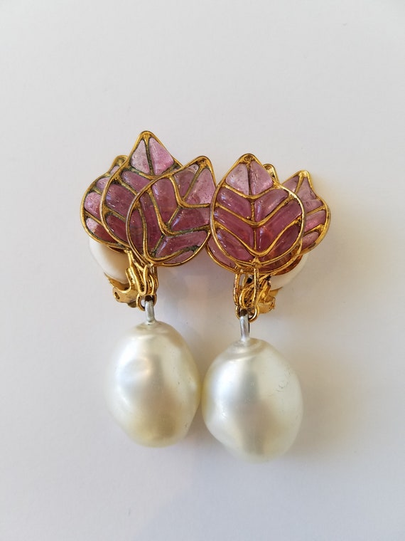 CHANEL  Pearl And Gripoix Earrings