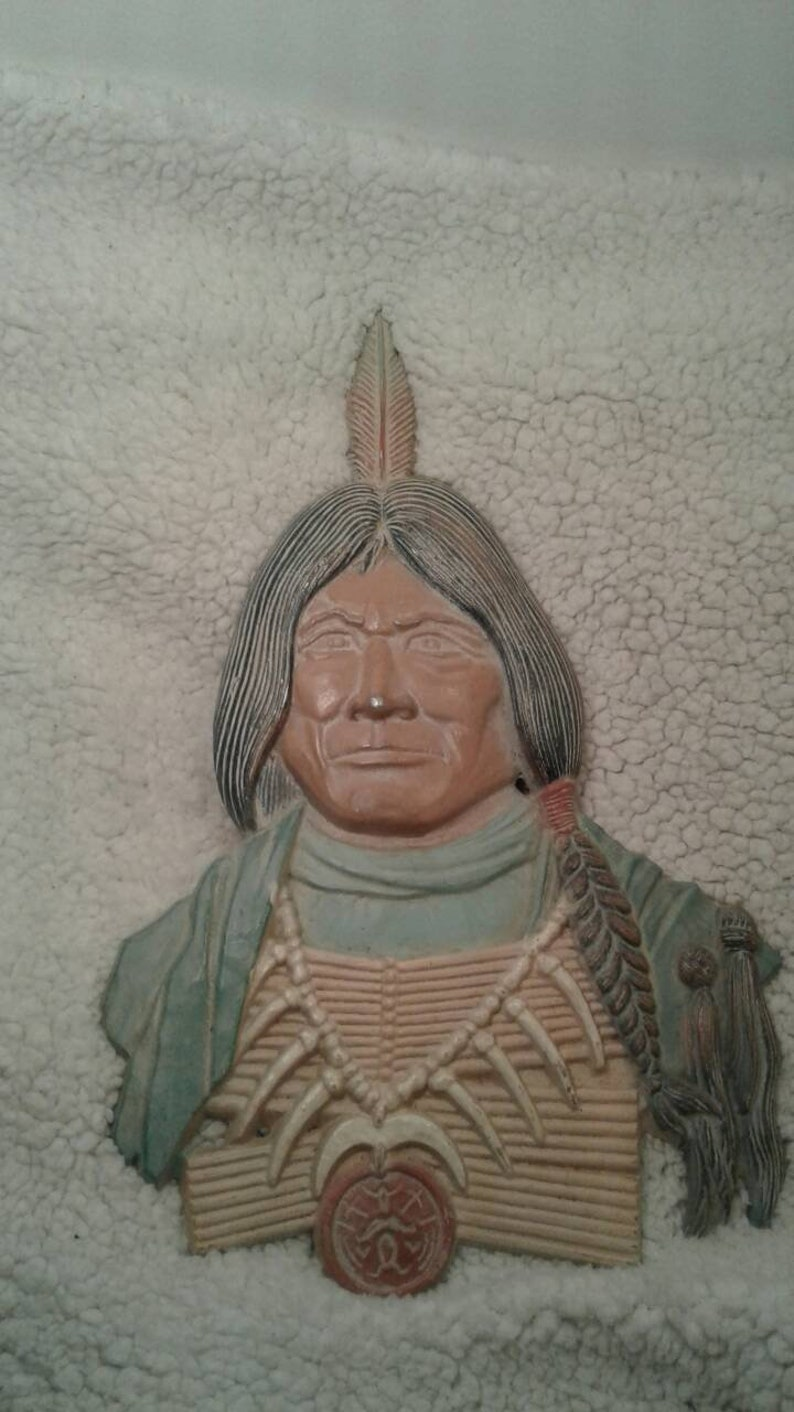 Vintage American Indian Metal Wall Decor Vintage Native American Artwork Vintage Indian Brave