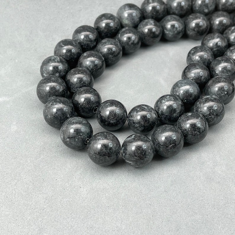 Beading essential: one strand of dyed black jade bead vintage jade bead dyed natural jadeite Dyed jade bead real stone bead