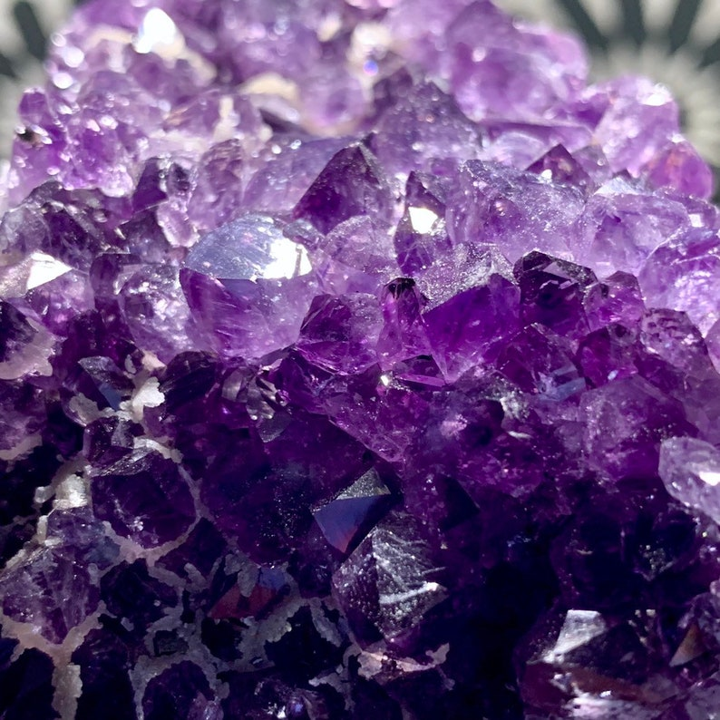 Amethyst and Calcite Standing Cluster