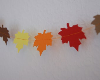 Paper garland - Fall leaves