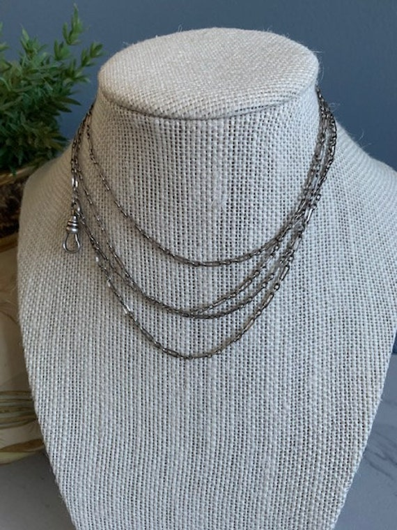 Silver Link Watch Chain Necklace
