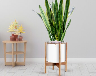 White Plant Stand Etsy