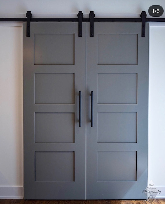 Custom Build: Classic 4 Panel Sliding Barn Door Hinge Pocket | Etsy