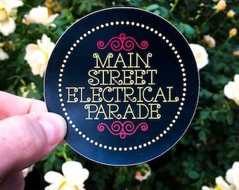 Main Street Electrical Parade Sticker & Magnet