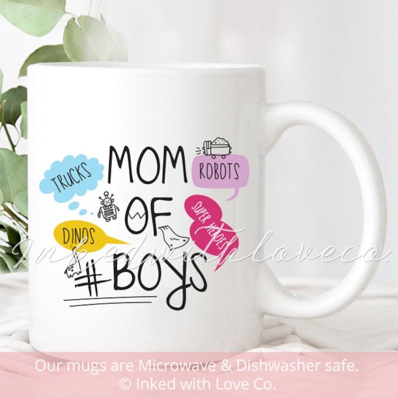 Mom Of Boys Gift Coffee Mug Birthday Thug