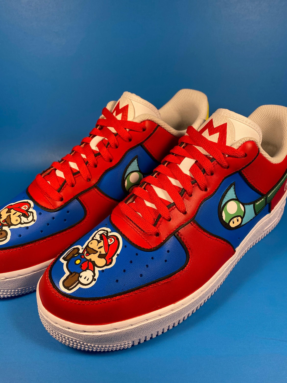 Custom Super Nintendo Mario Nike Air Force 1's
