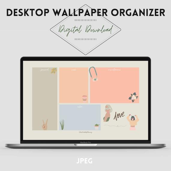 Good Vibes Desktop Organizer Wallpaper Organizer Desktop Etsy