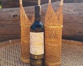 Wine weaving basket, Gift Baskets, Coconut wood, Kganmaprapa. Organic 100