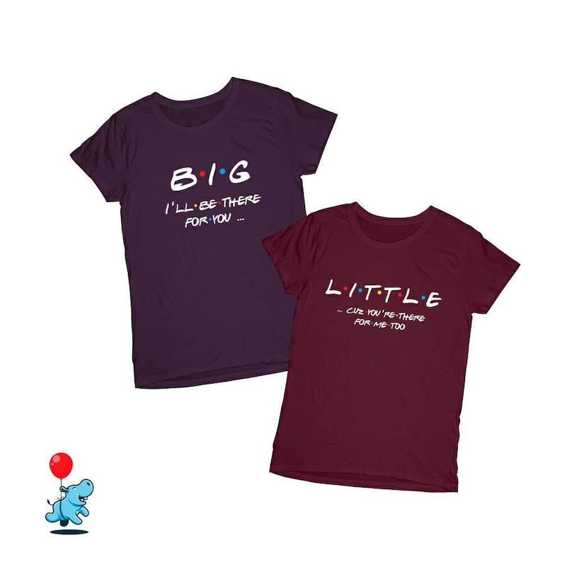 0d5581731 Big Little shirts Friends tv series Big little gift Big Little | Etsy