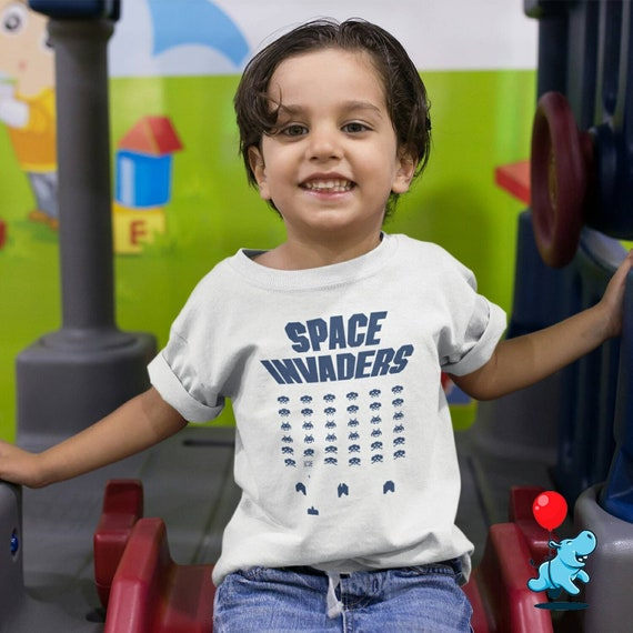 Kids Space Invaders T-shirt - 1-13 years