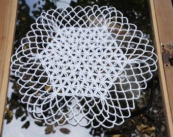 Crochet pattern FLOWER OF LIFE Doily