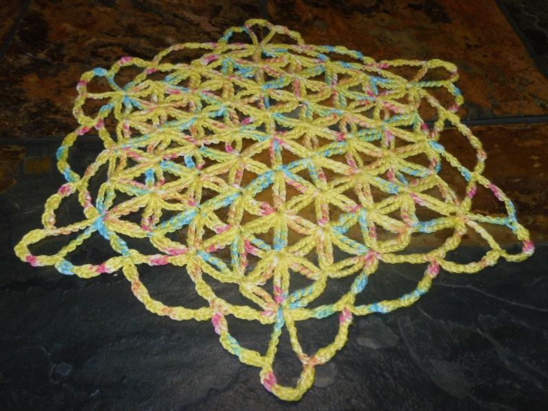 FLOWER OF LIFE Doily Crochet tutorial