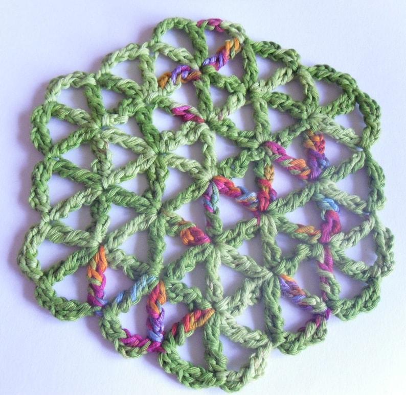 Crochet pattern Coaster FLOWER OF LIFE