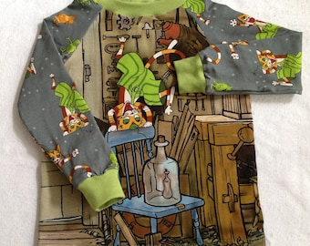 """LA-Shirt """"Hurra Findus"""" 3 pictures to choose from, grey"""