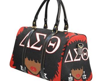 Delta Sigma Theta Afro Girl DST Travel Bag 2ea3afa769747