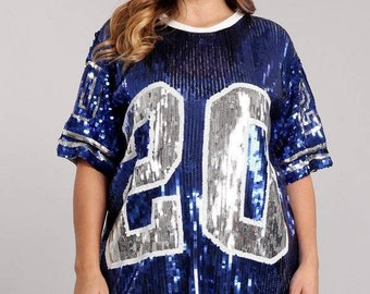 0d1e644510c6c 20 Plus Size ZPB Zeta Phi Beta Inspired Sequin Jersey - Royal