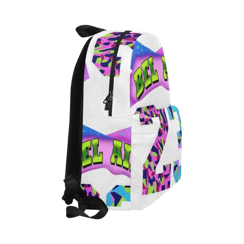 white Bel Air 23 Bookbag