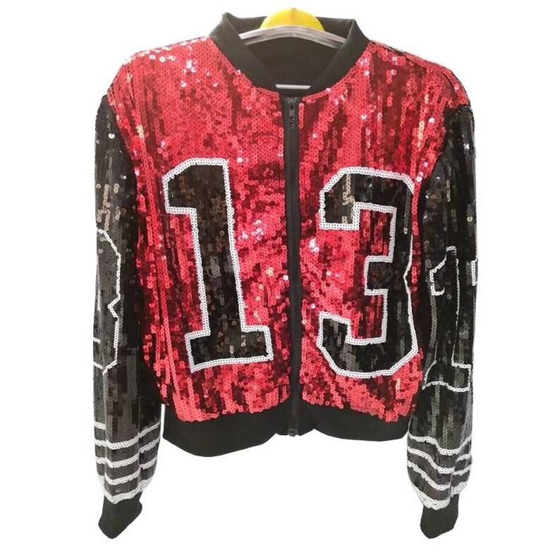 13 DST Reg Size Delta Sigma Theta Sequin Jacket - Red