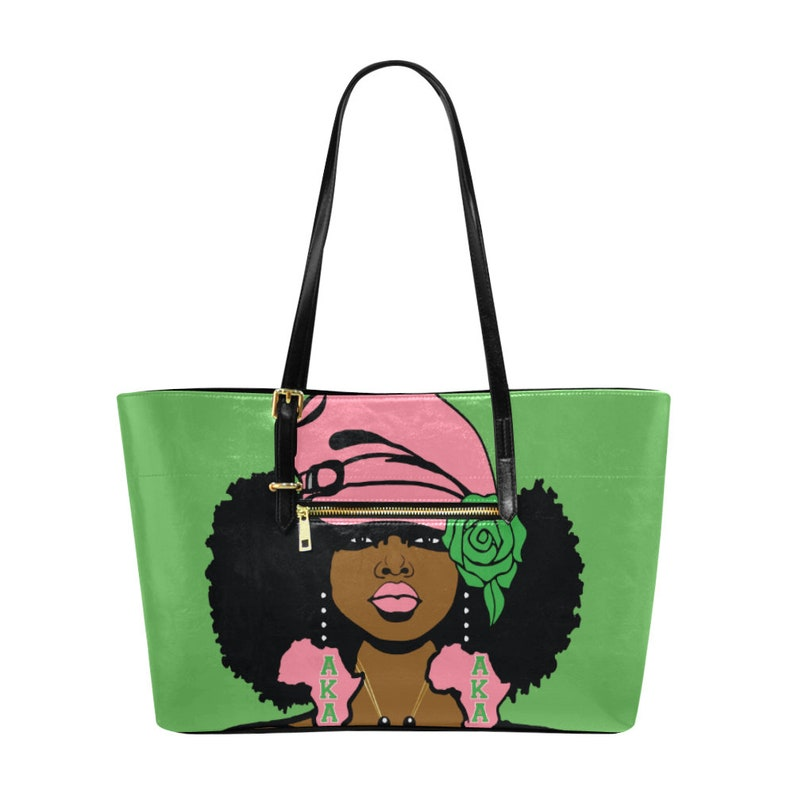 Alpha Kappa Alpha AKA FroQueen Euramerican Tote Bag Green