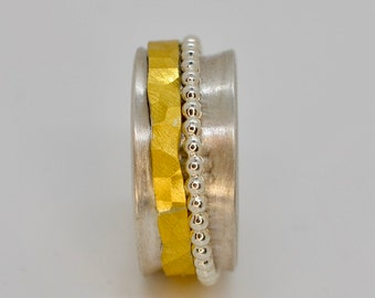 TURN Turning Ring Fine Gold /Silver Playing Ring Unique!!