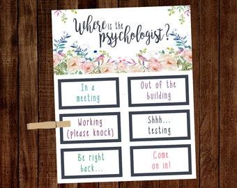 School Psychologist Office Decor Etsy