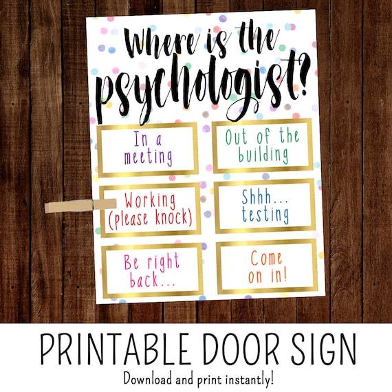 Where Is The Psychologist School Psychologist Office Door Etsy