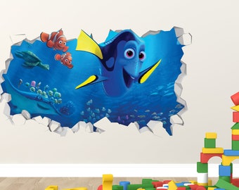 Finding Dory Octopus Hank 3D Window Wall Decals Removable Stickers Kids Mural