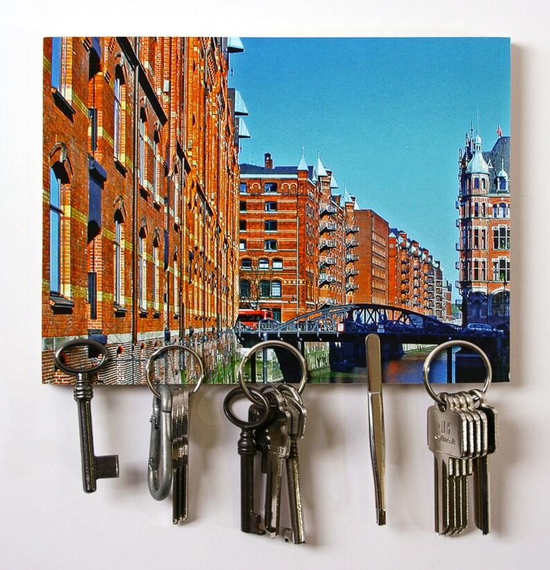 Magnetschlüsselbrett Bild Speicherstadt Hamburg image 0