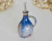 Handmade Oil Bottle with handle, Vinegar Dispenser, Beige Ceramic Oil Dispenser, Kitchen Gifts, Pottery Oil Bottle, READY TO SHIP