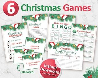 Christmas games bundle, Christmas printables, Christmas games printable, Holiday games, Christmas party ideas, Christmas in July