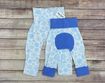 Snowflake/Christmas/Winter Maxaloon/Grow with me pants boy girl baby first christmas gift
