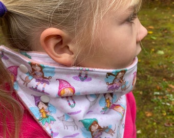 Child kids Rainbow Unicorns, Fairy cats neckwarmer (scarf, cowl, snood, neckband, kids scarf) toddler, girls scarf, fleece neckwarmer gaiter