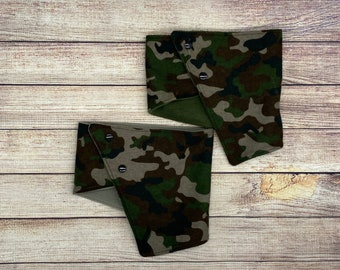 Child kids camo camouflage neckwarmer (scarf, cowl, snood, neckband, kids scarf) toddler, boys scarf, fleece neckwarmer