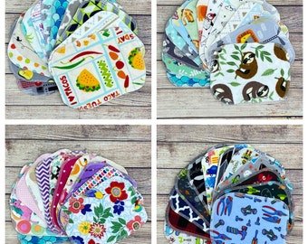 8x6 Flannel wipes, eco friendly cloth wipes, reusable wipes, personal cloth, wash cloth, family cloth, toilet tissue