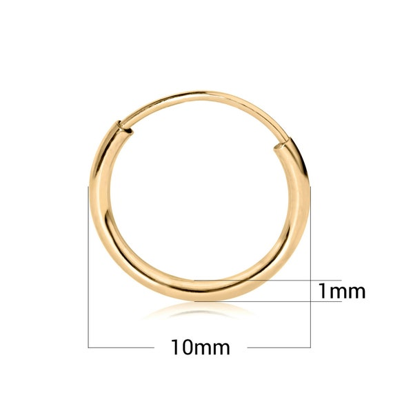 14k Yellow Gold 2mm Thickness Small Domed Huggies Earrings for Kids and Teens