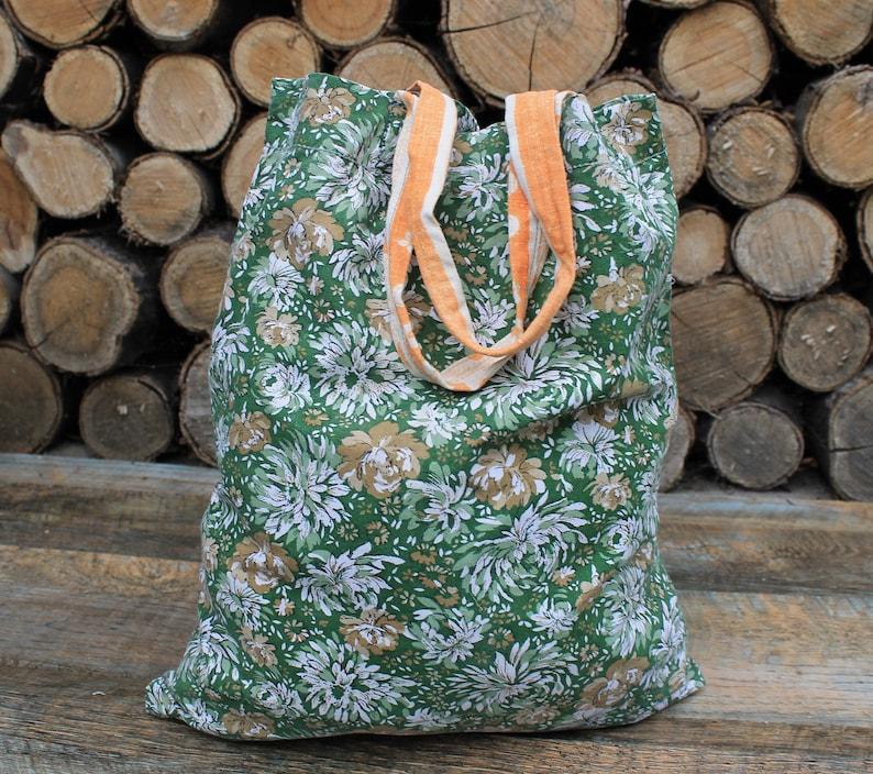 Reusable grocery bag vintage reusable grocery bag foldable vintage market bag natural tote bag for gift hippie bag  made in the USSR.