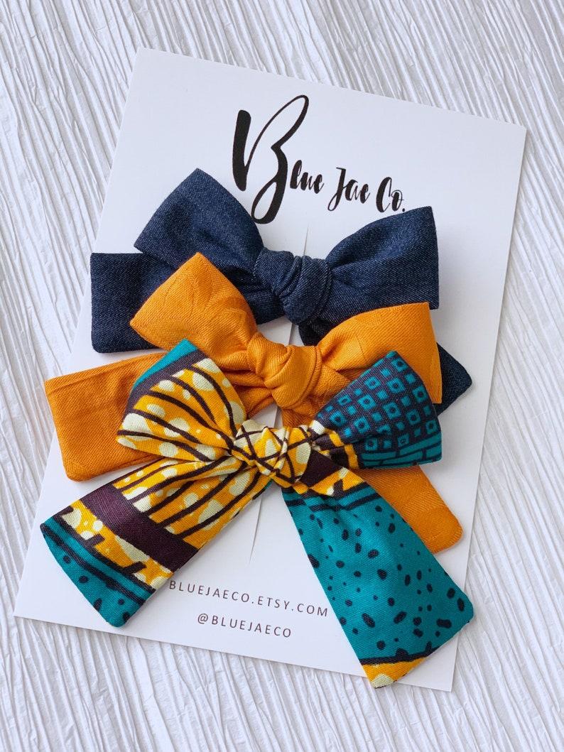 Hand Tied Aqua Blue Schoolgirl Hair Bow toddler headband baby headband baby hair bow headbands girl hair bow